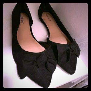 Torrid Suede Flats with Bow 13W